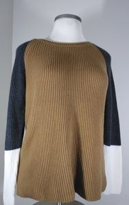 Talbots Block Colored Chunky Style Sweater Sz L